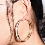 欧美大牌夸张创意设计多层磨砂个性耳环