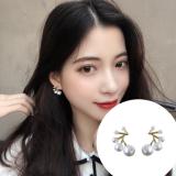 S925银针韩国超仙简约珍珠少女气质百搭耳钉