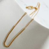 欧美简约链条细镀金个性ins叠戴小众设计气质颈链蛇骨链项链女